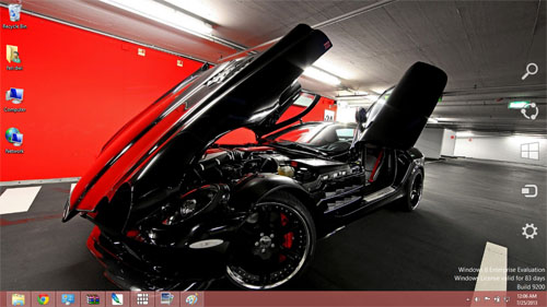 Mercedes Benz SLR Mclaren Car Theme For Windows 7 And 8