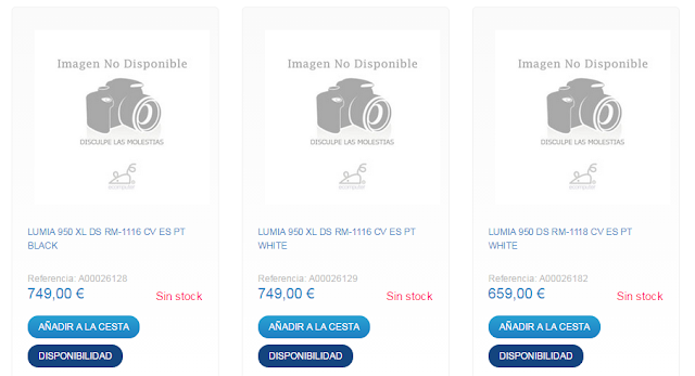 Microsoft Lumia 950 XL muncul di toko online Spanyol dengan harga 749 EUR