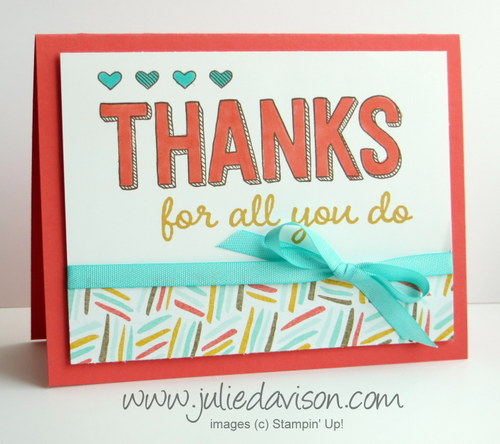 Stampin' Up! Sale-a-bration For Being You Card #saleabration #stampinup www.juliedavison.com