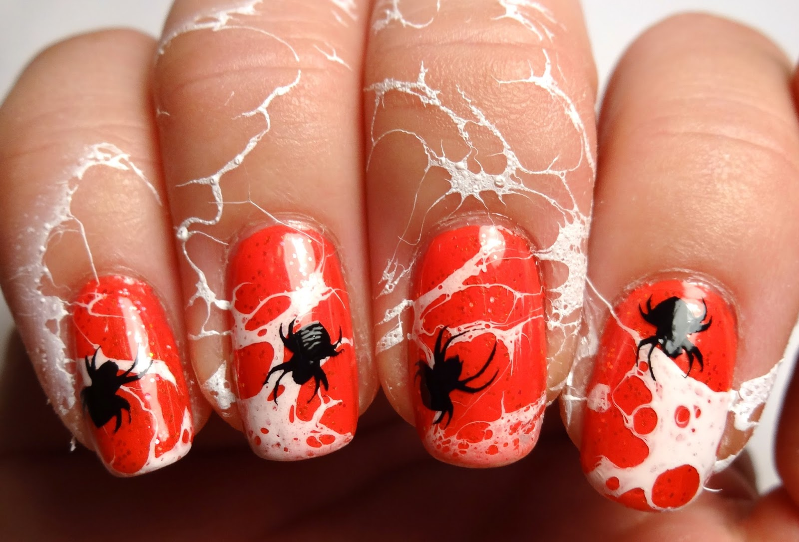 Stamped Spider Nails