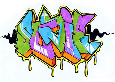 All Graffiti 9 Letter Style Name Sunie Cool