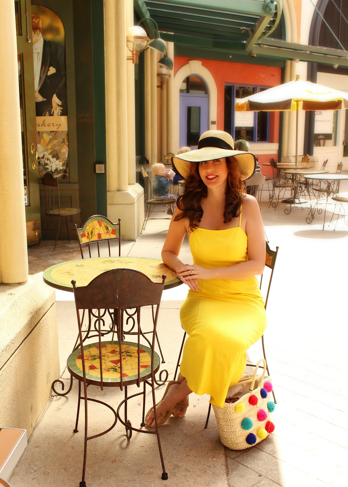 Yellow Tie Back Maxi Dress