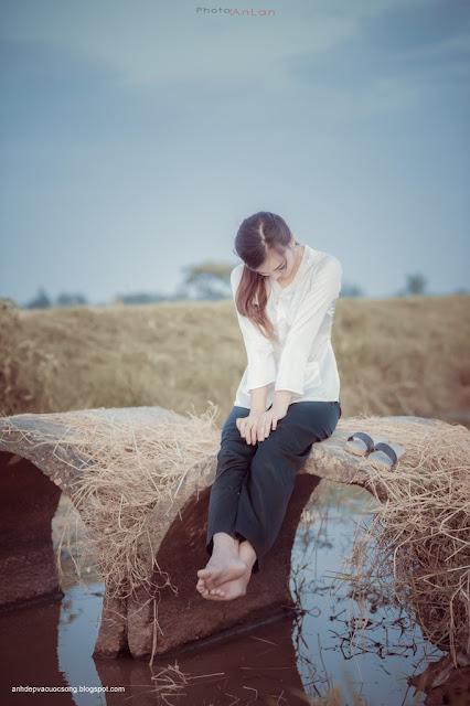 Hình ảnh đẹp thôn nữ miền tây