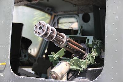 Ametralladora en Helicoptero de la Guerra de Vietnam