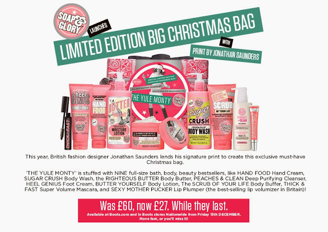 Soap and Glory Yule Monty Christmas bag