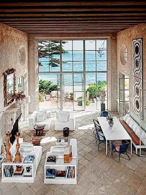 desain interior ruang tamu rumah eropa