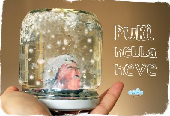 palla di vetro con la neve fai-da-te