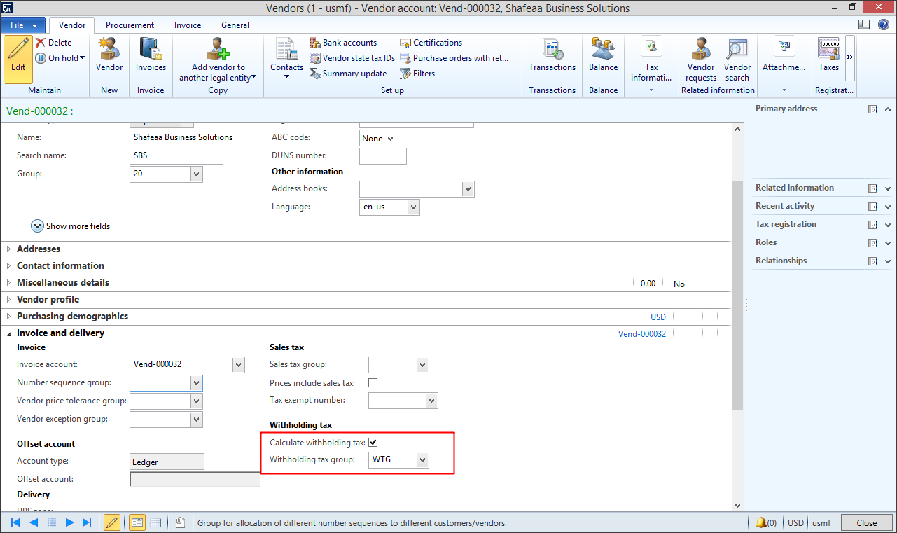 dynamics ax tips: ax 2012 | withholding sales tax, Invoice templates