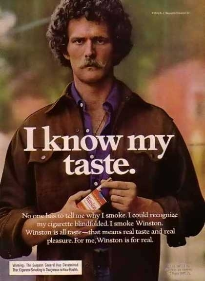 Cigarette Ads 2012 1970s pornstache cigarette ads