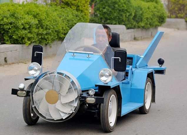 اختراع جديد : سيارة صينية تعمل بالرياح