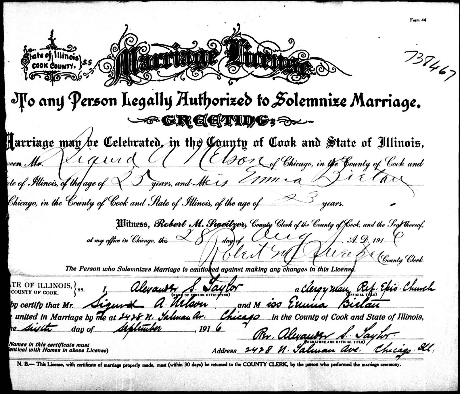 Chicagogenealogy research insights from study and serendipity 2011 grooms estimated birth year 1891 grooms birthplace chicago cook illinois bride emma bietan brides estimated birth year 1893 aiddatafo Image collections