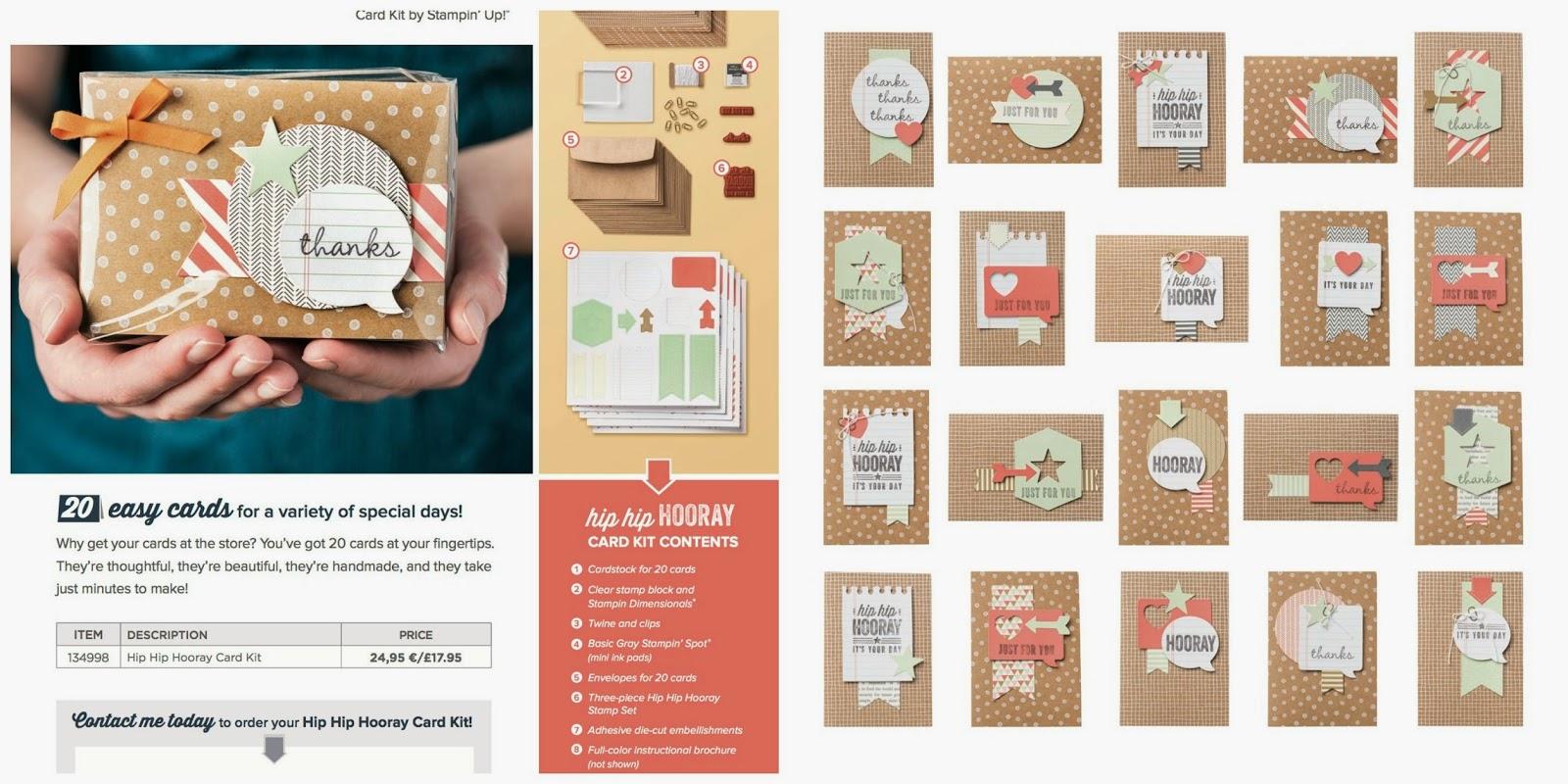 Stampin up card making ideas kit Tracy May