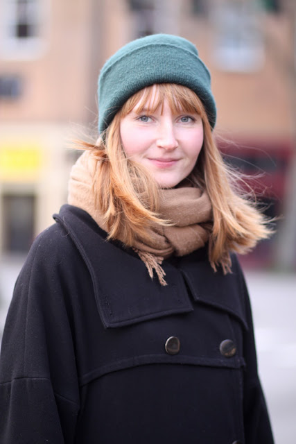 Helene Christensen scarf hat bangs seattle street style fashion fremont it's mydarlin'