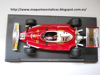 static model Ferrari 312T F1