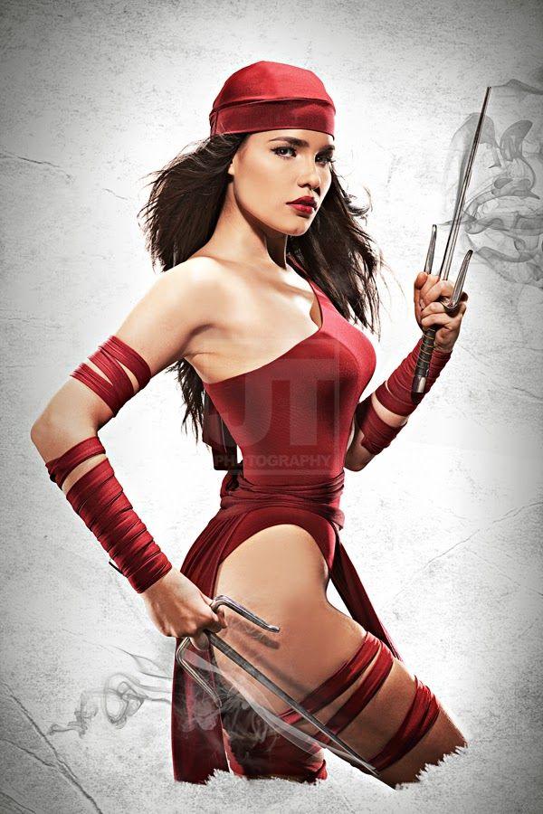 nadine hwowell as elektra natchios les femme fatales cosplay
