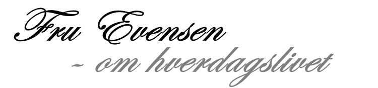 Fru Evensen