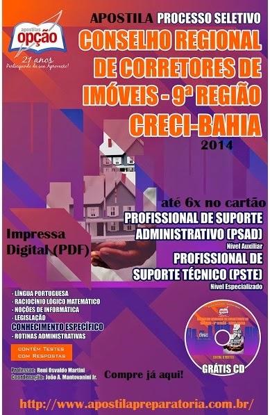 Apostila Concurso CRECI/BA - Conselho Regional de Corretores de Imóveis - 9ª Região