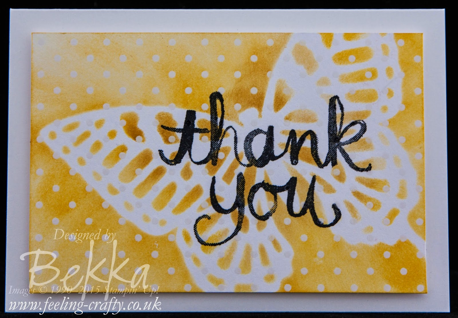 Irresistibly Yours Butterfly Stencil Note Cards - check out this blog for lots of great ideas