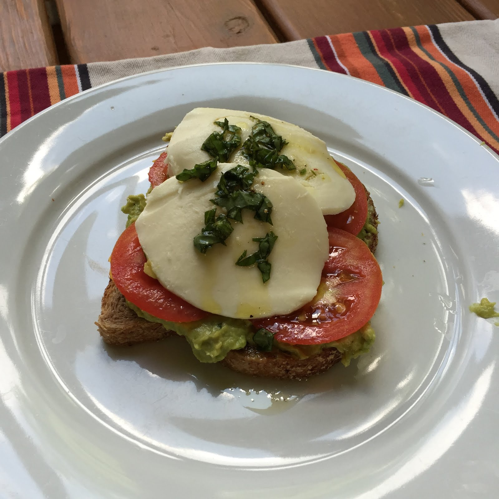 Avocado Toast with Heirloom Tomatoes