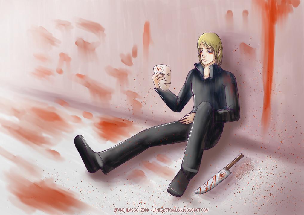 Dibujo digital de un asesino