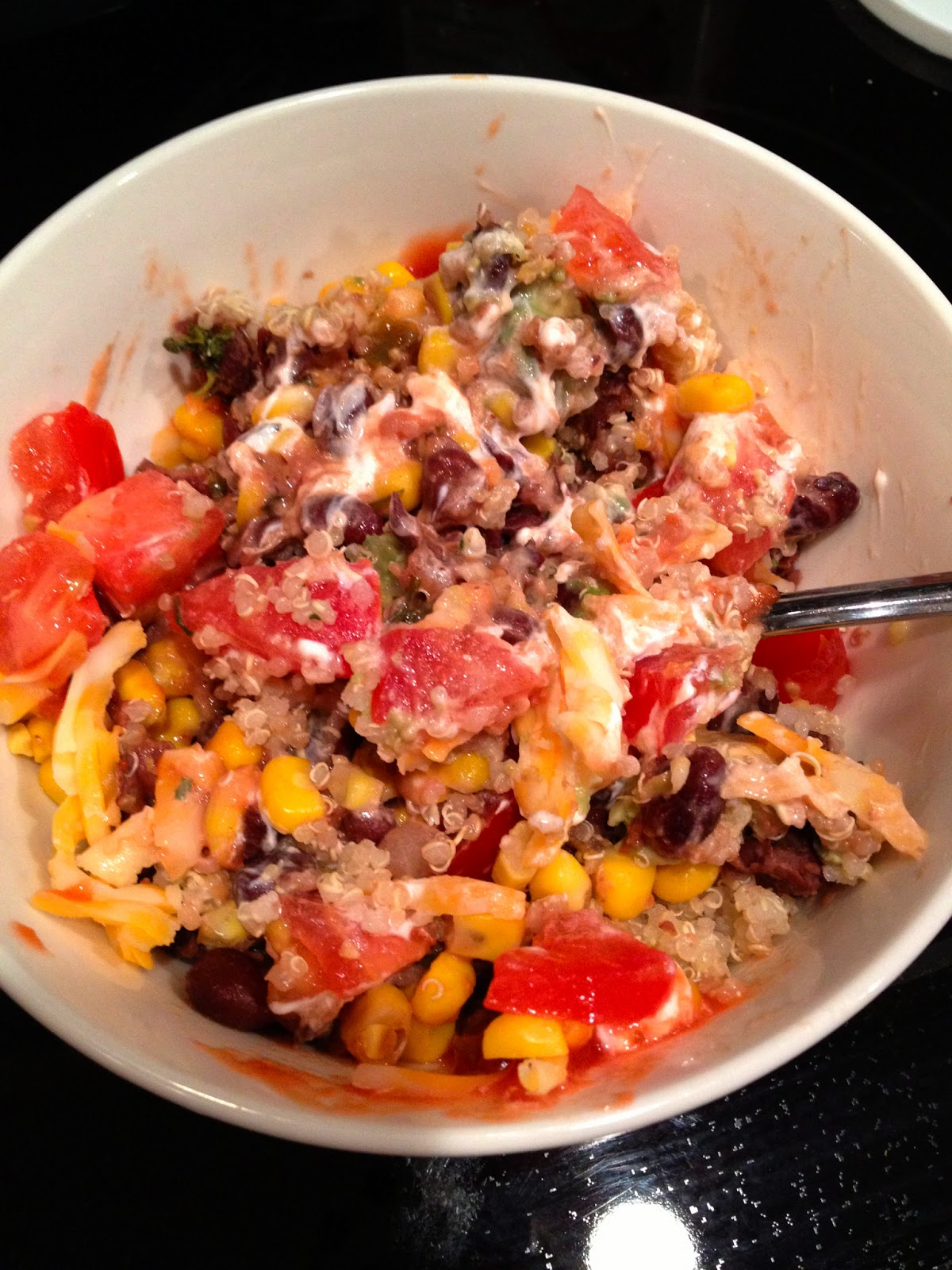 Confessions of a Health Queen: Quinoa Black Bean Burrito Bowl