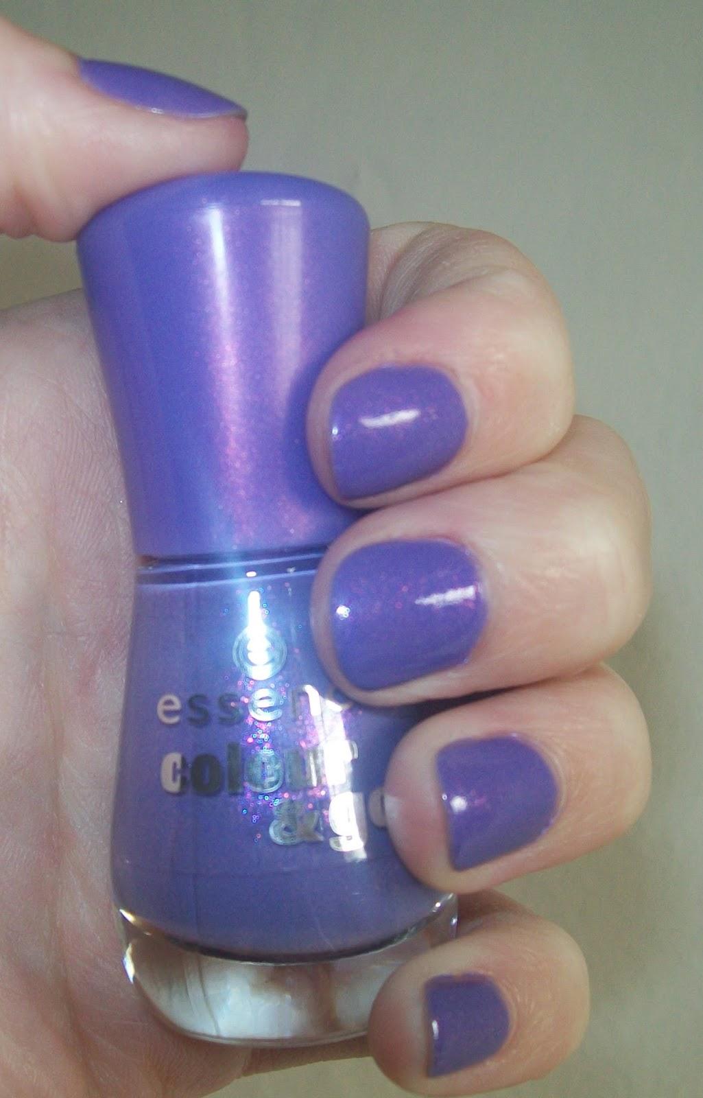The Lardy Grub: Essence Colour & Go polish- 133 Oh My Glitter!