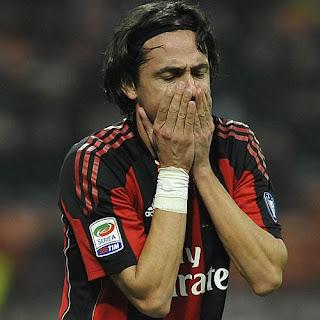 Filippo Inzaghi abandonaría el Milan en enero