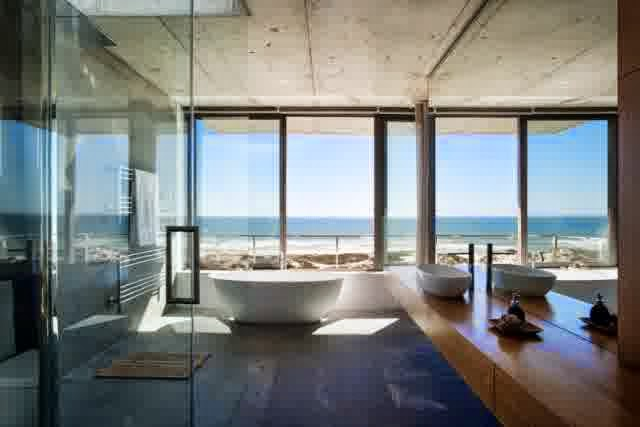 Positioned residential Ideas for Bathroom spa bath at the window. 32 Living Ideas for Bathrooms  simply as a synonym for modern