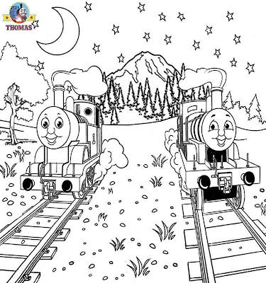 James tank engine Thomas and friends coloring book pages for kids picture printable for free online