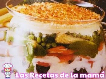 Pastel de verduras gratinadas