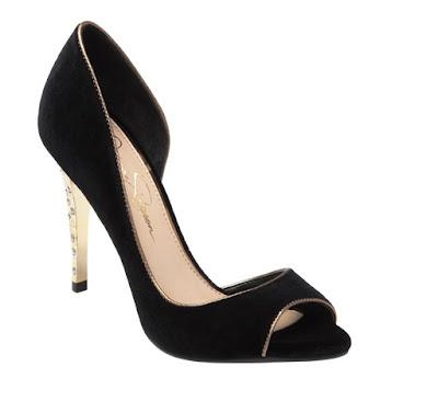 Jessica Simpson black peep toe d'orsay heels