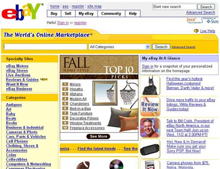 asian market Ebay and the