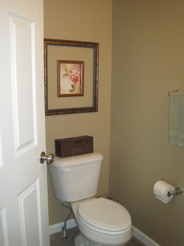 Half-Bathroom Floating Shelves