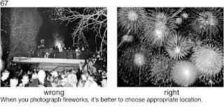 Совет 67. При съемке фейерверков необходимо скомпоновать кадр так, что бы в нем было как можно больше фейерверков и  как можно меньше - других объектов.