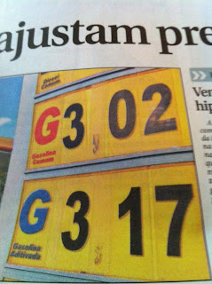 Gasoline hits $7.30 a gallon in Brasilia!