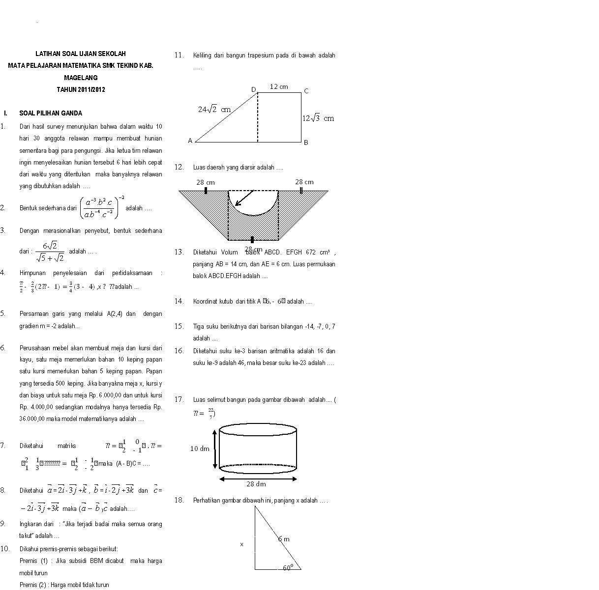 Skanisa Math Maret 2012