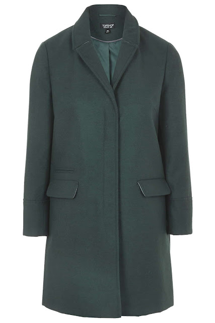topshop green coat, bottle green coat,