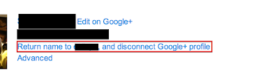 Click Return name to yourusername, and disconnect Google+ profile