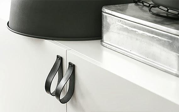 puxadores de armário - faça você mesma - ideias de puxador - puxador de couro - fácil de fazer