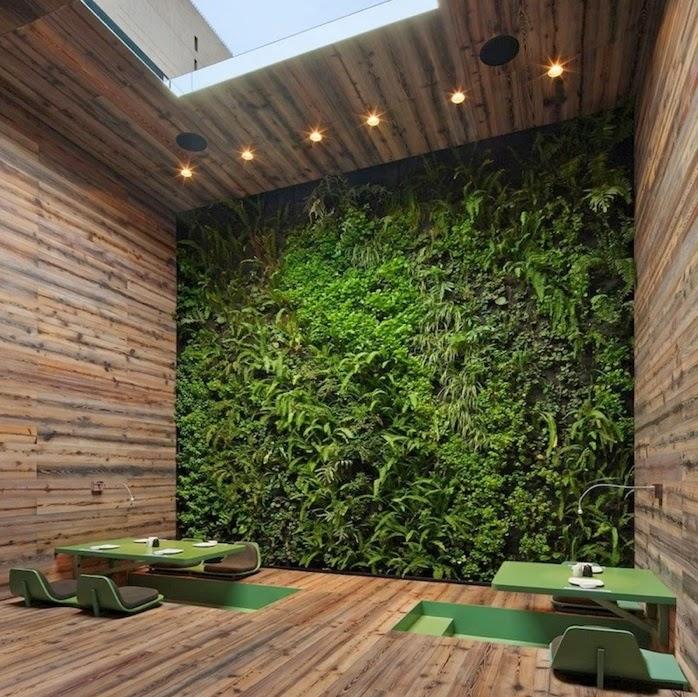 C mo dise ar un jard n en el interior de tu casa casas ideas for Jardines verticales para patios pequenos