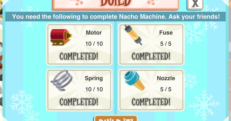 nacho machine parts