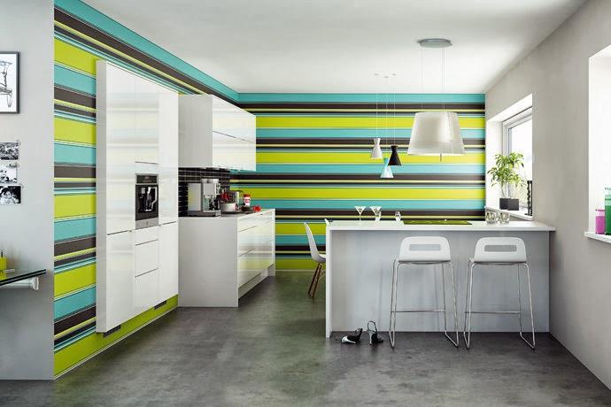 Papel pintado en la cocina si oasisingular - Papel para paredes de cocina ...