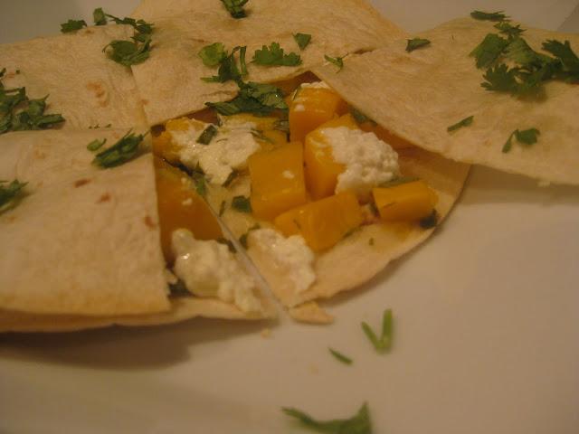 Pammi Cakes Recipes: Mango Goat Cheese Quesadilla Recipe