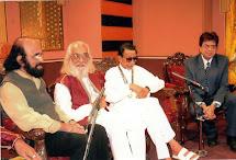 With Balasahab Thackeray at a recording.
