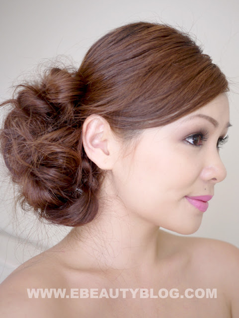 EbeautyBlog.com Bridal Messy Side Bun Hair Tutorial