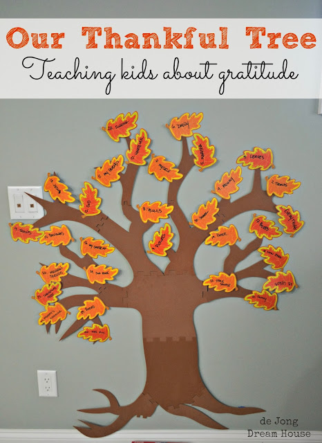 Thankful Tree: teaching kids about gratitude