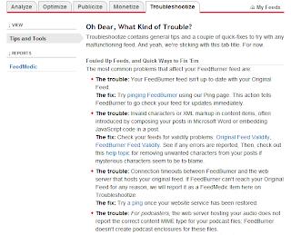 Feedburner troubleshooting