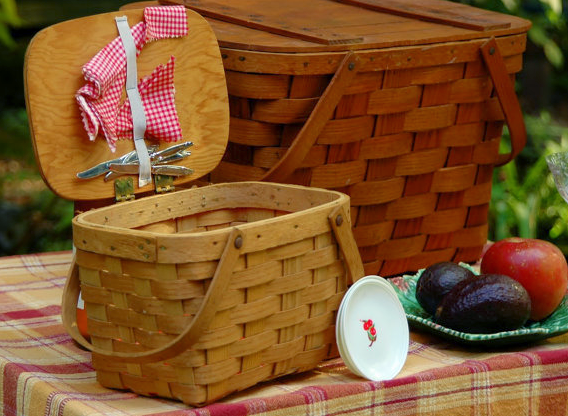 Pint Sized Vintage Picnic Basket
