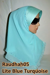 "Chiffon 2 Layer Diamond ""Raudhah"""
