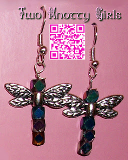 Hand Made Sparkly Dragonfly Earrings